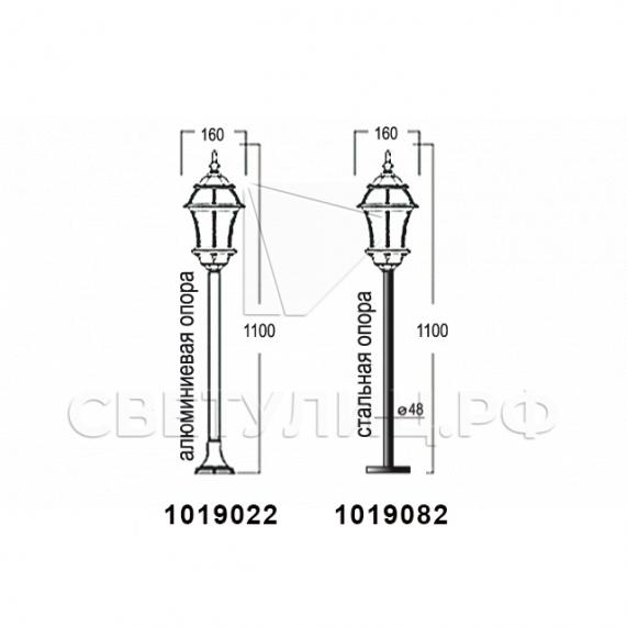Садово-парковые светильники 1019, 2045 12