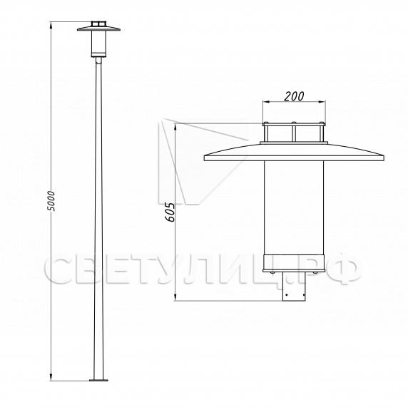 Нейтральный уличный светодиодный фонарь H1.2 в Актобе 3