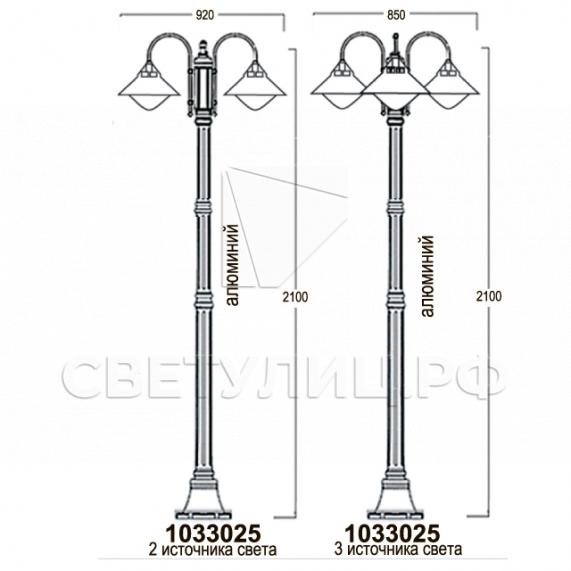 Садово-парковые светильники 1033 12