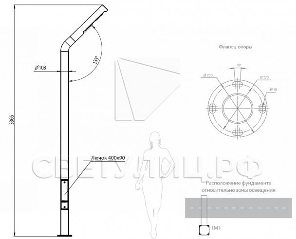 Уличная светодиодная система Стик 108 1