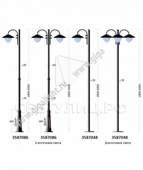 Садово-парковые светильники 3587 1
