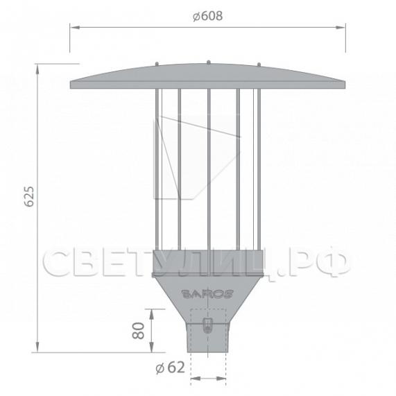 Светодиодный уличный светильник Аксель LED 1