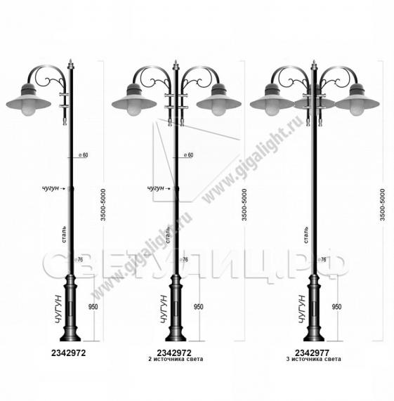 Садово-парковые светильники 1500, 2342 в Актобе 3