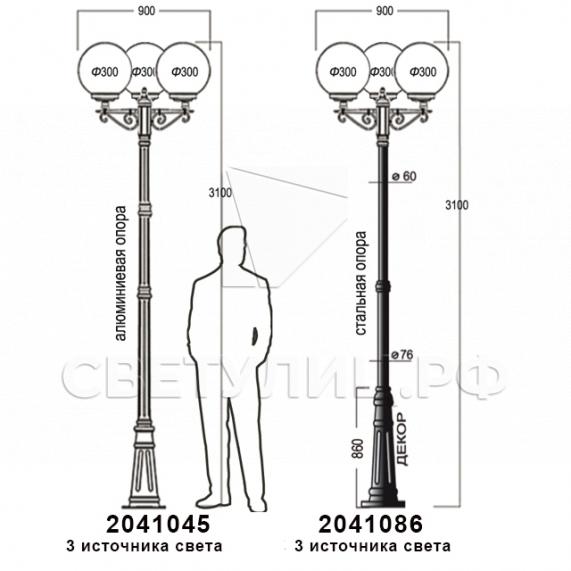 Садово-парковые светильники 1003, 1015, 2041, 2053 37
