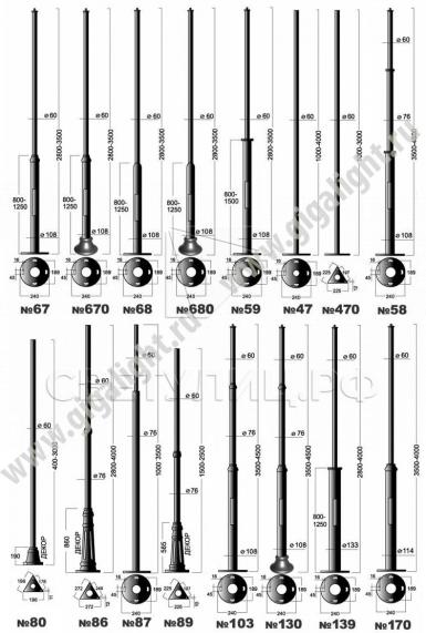 Садово-парковые светильники 3171 (d=400) 3