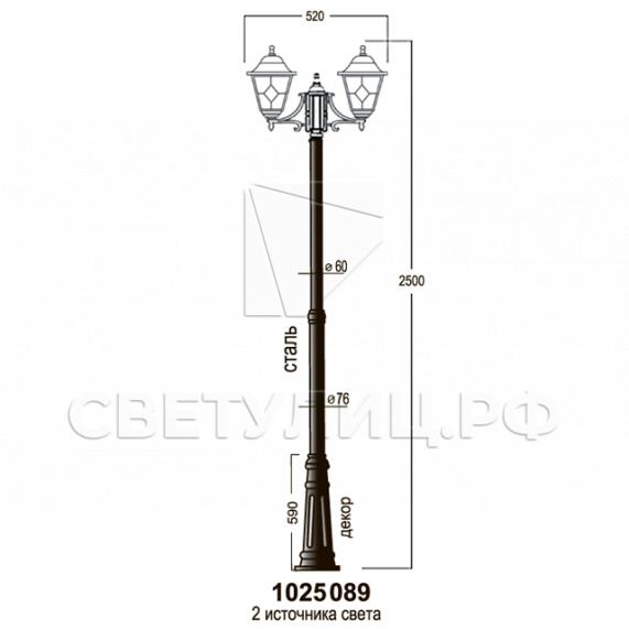 Садово-парковые светильники 1025 17