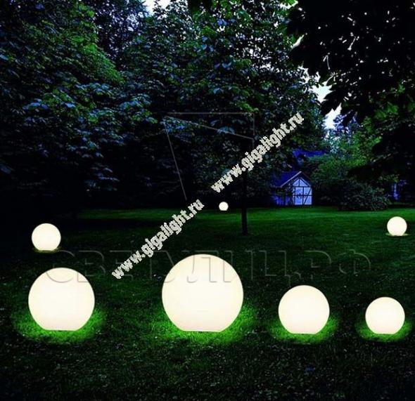 Газонные светильники Грасс Глобус 400 1