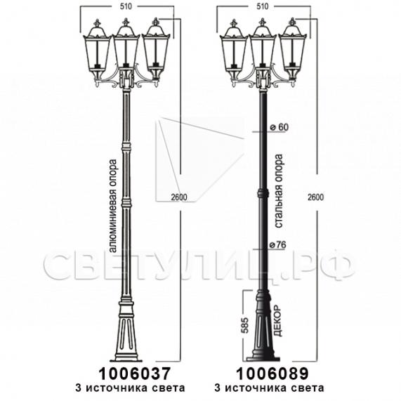 Садово-парковые светильники 1006 17