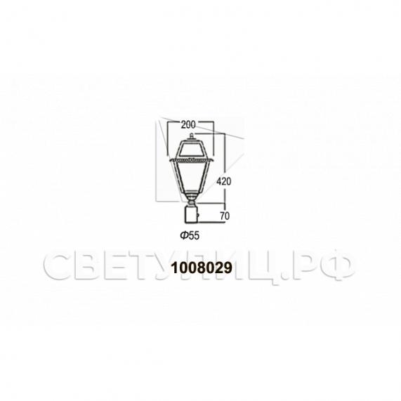 Садово-парковые светильники 1008 5