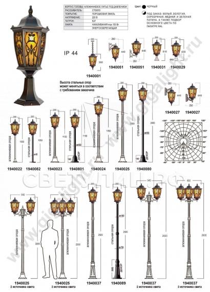 Садово-парковые светильники 1940 в Актобе 2