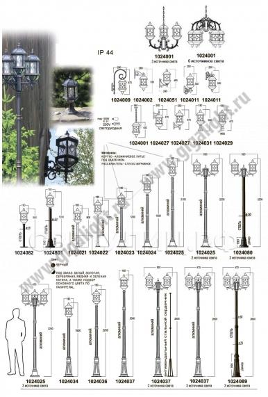 Садово-парковые светильники 1024 в Актобе 1