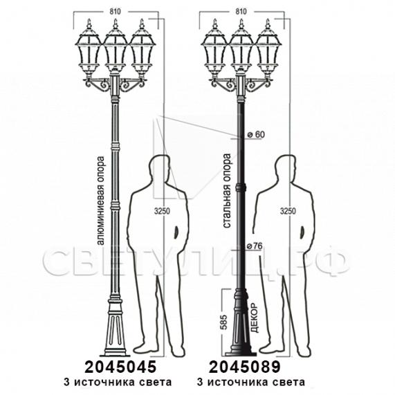 Садово-парковые светильники 1019, 2045 32