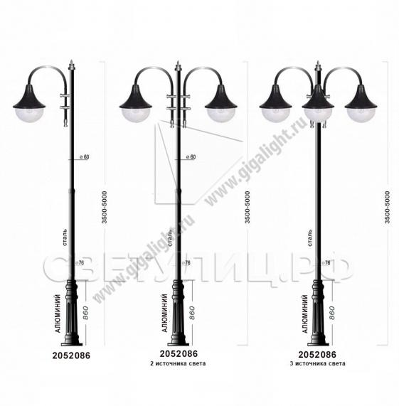 Садово-парковые светильники 2052 3