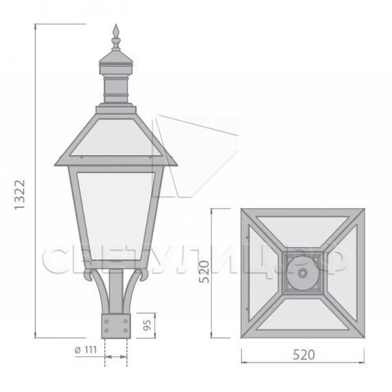Уличный светильник Рошаль 1