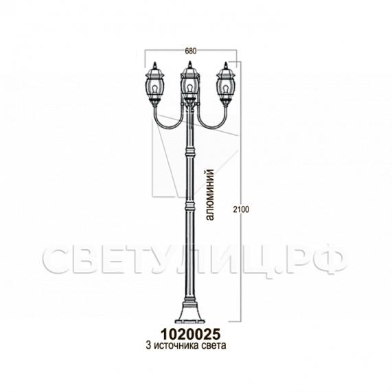 Садово-парковые светильники 1020, 2040 в Актобе 9