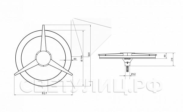 Светодиодный светильник Рондо Т 2