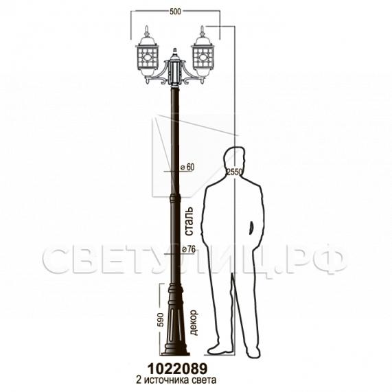 Садово-парковые светильники 1022, 2046 17