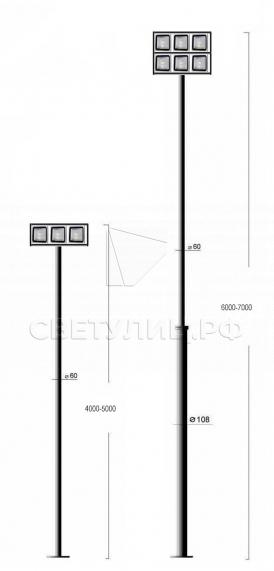 Садово-парковые светильники Конс 7 модуль 1