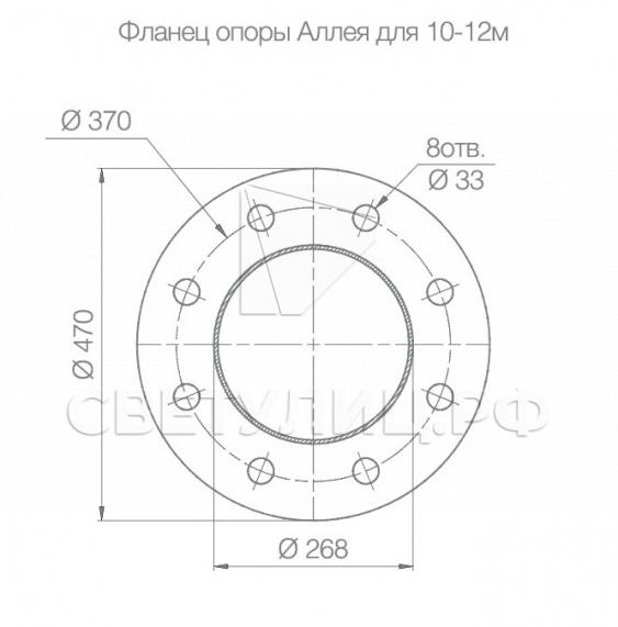 Опора круглая коническая складывающаяся Аллея 4