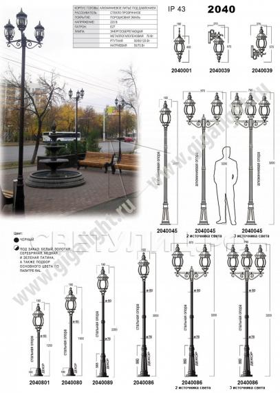 Садово-парковые светильники 1010, 2040, 2051 в Актобе 3