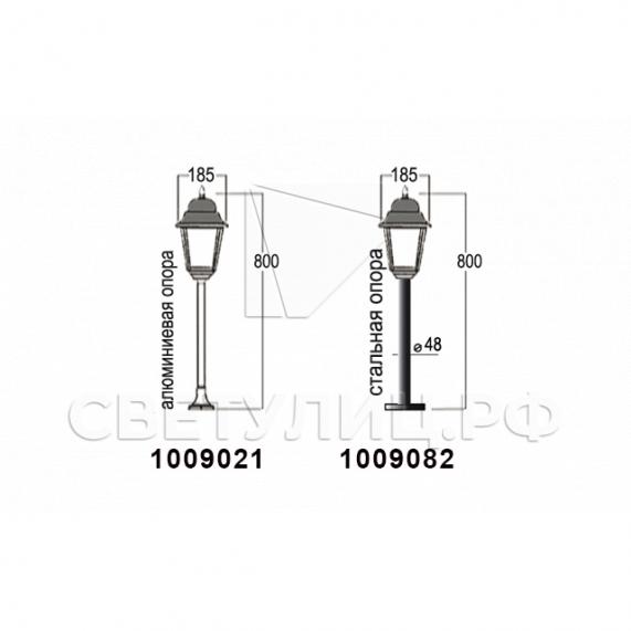 Садово-парковые светильники 1002, 1009, 2039, 2189 20