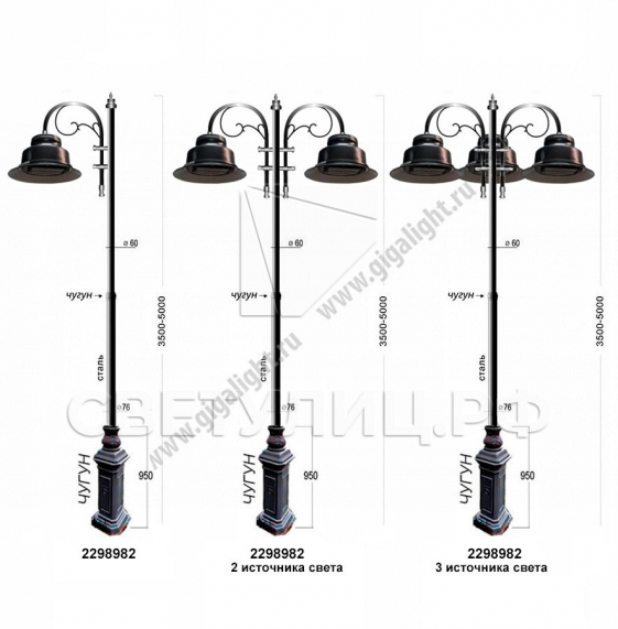 Садово-парковые светильники 2298 в Актобе 4