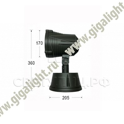 Газонные светильники Терра Гранде красный 3