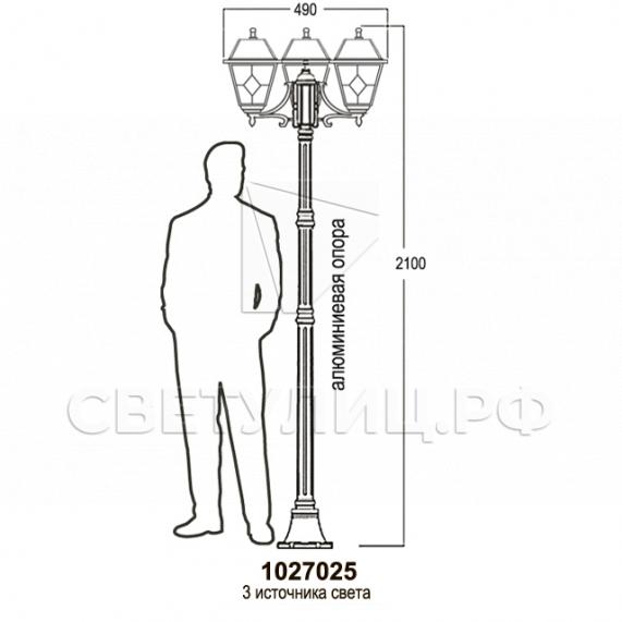 Садово-парковые светильники 1027 14