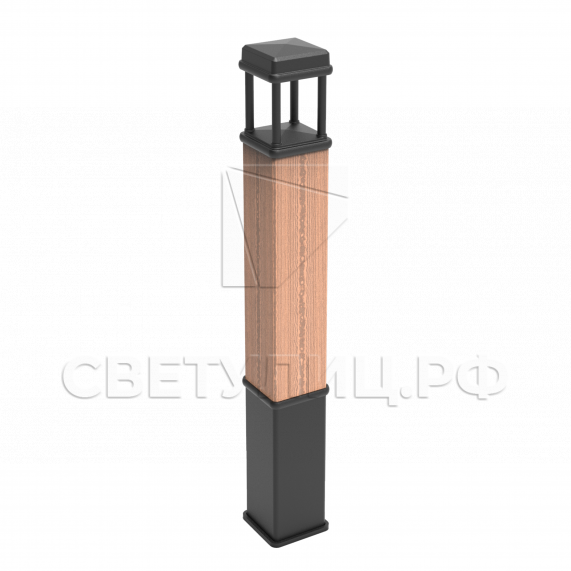 Деревянный столбик освещения Ст.77 в Актобе 0