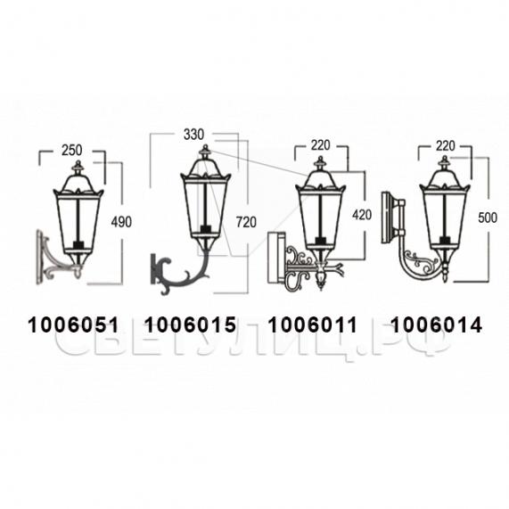 Садово-парковые светильники 1006 5