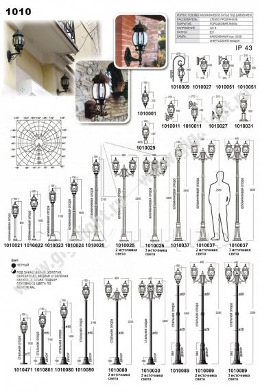 Садово-парковые светильники 1010, 2040, 2051 в Актобе 2