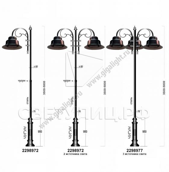 Садово-парковые светильники 2298 в Актобе 3