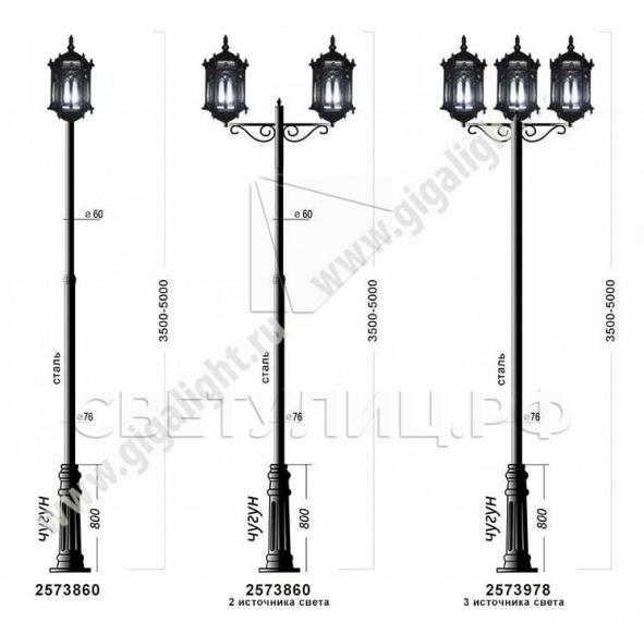 Садово-парковые светильники 1204, 2574, 2573 в Актобе 6