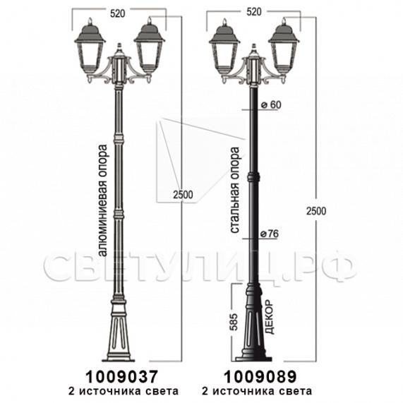 Садово-парковые светильники 1002, 1009, 2039, 2189 28