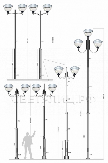 Садово-парковые светильники 2340 в Актобе 3