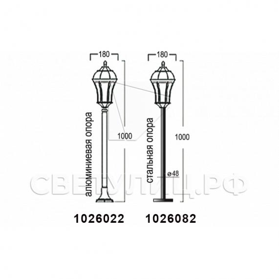 Садово-парковые светильники 1026, 2064 в Актобе 10