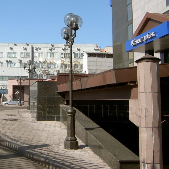 Уличная декоративная литая опора освещения Коневец в Актобе 3