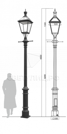 Исторический фонарь И-1 в Актобе 0