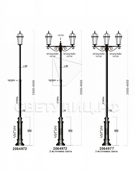 Садово-парковые светильники 1026, 2064 в Актобе 4