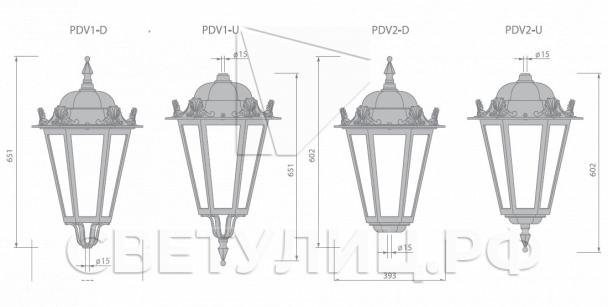 Светильник уличный классический светодиодный Петродворец 4