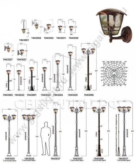 Садово-парковые светильники 1943 в Актобе 1