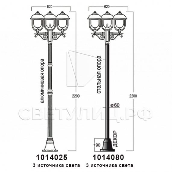 Садово-парковые светильники 1014 в Актобе 12