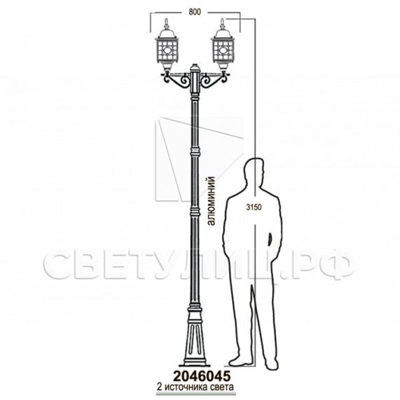 Садово-парковые светильники 1022, 2046 25