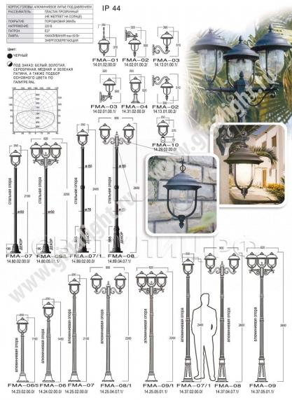 Садово-парковые светильники 1014 в Актобе 1
