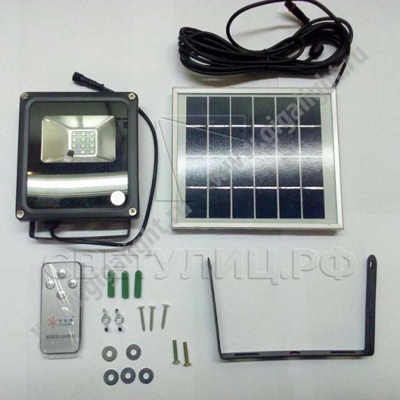 Прожектор светодиодный на солнечной батарее 10 Вт - 5859 0