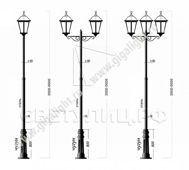 Садово-парковые светильники 1001, 1005, 2036, 2037 в Актобе 4