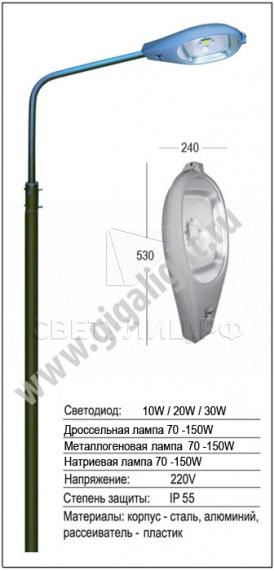 Садово-парковые светильники 3264 в Екатеринбурге 3
