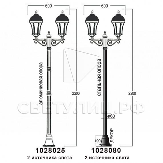 Садово-парковые светильники 1028, 2047 17