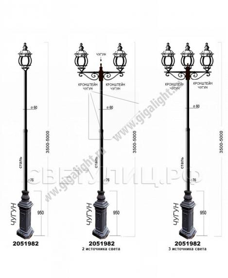 Садово-парковые светильники 2051 4
