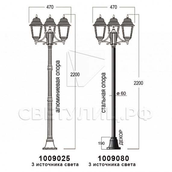 Садово-парковые светильники 1002, 1009, 2039, 2189 26